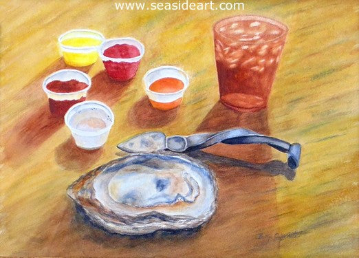 Stumpy Point Oyster by Bettye C. White - Seaside Art Gallery