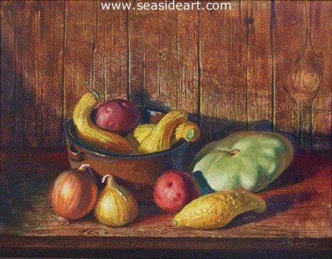 Summer Squash by Allan Jones - Seaside Art Gallery