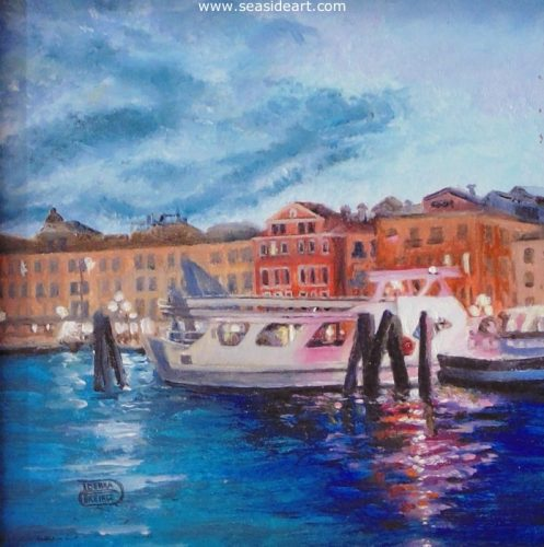 Sunset on the Canal, Venice by Debra Keirce - Seaside Art Gallery