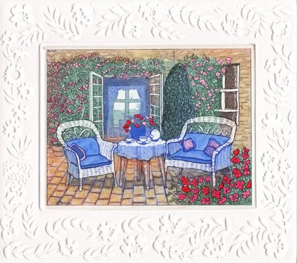 Tea On The Patio by Stephan Whittle - Seaside Art Gallery