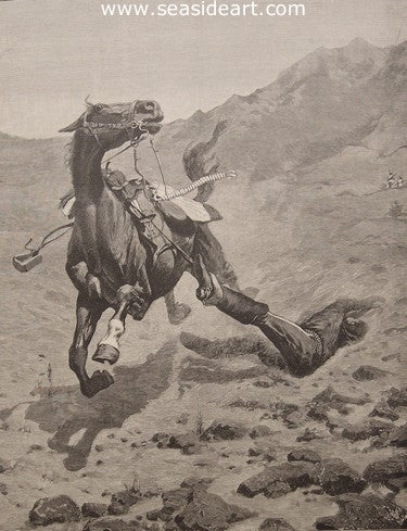 The Ambushed Picket by Frederic Sackrider Remington - Seaside Art Gallery