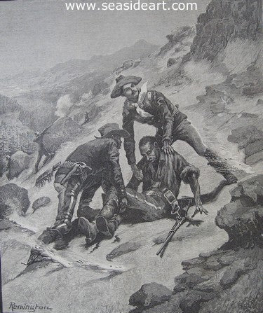 Soldiering in the South West - The Rescue of Corporal Scott by Frederic Sackrider Remington - Seaside Art Gallery