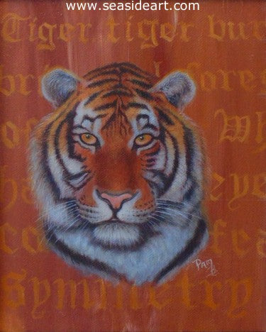 Tiger Burning Bright by Pamela Brown Broockman - Seaside Art Gallery