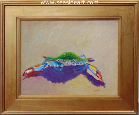 Too Crabby by Suzanne Morris - Seaside Art Gallery