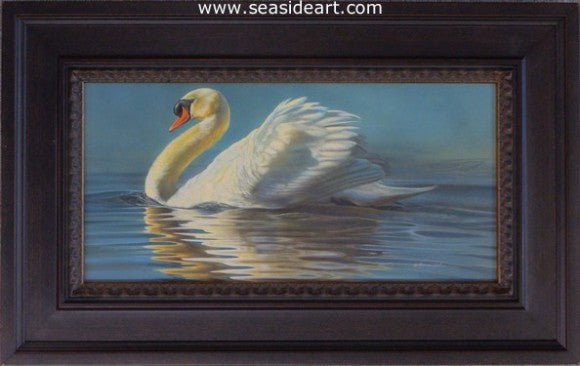 To The Nines-Mute Swan by Rebecca Latham - Seaside Art Gallery