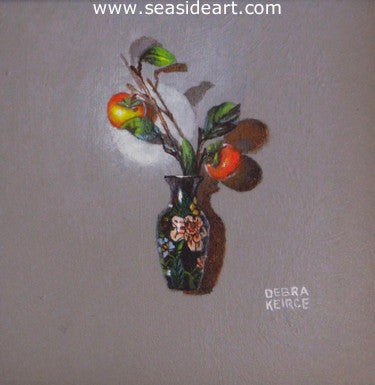 Vase With Fruit by Debra Keirce - Seaside Art Gallery