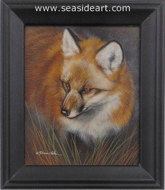 Watching-Red Fox by Rebecca Latham - Seaside Art Gallery
