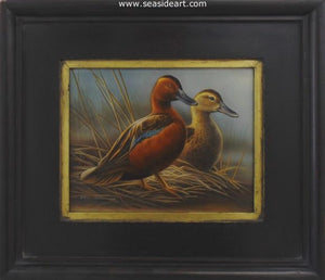 Water's Edge-Cinnamon Teal by Rebecca Latham - Seaside Art Gallery