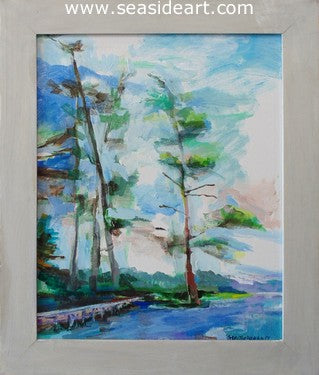 White Pines Camp by Martha Hayden - Seaside Art Gallery