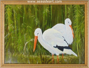 White Storks by Connie Cruise - Seaside Art Gallery