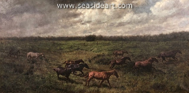 Wild Horses by Frans Beckers - Seaside Art Gallery