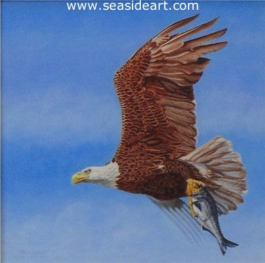 Abbott-Wild & Free (Bald Eagle) by Beverly Abbott - Seaside Art Gallery