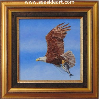 Wild & Free (Bald Eagle) by Beverly Abbott - Seaside Art Gallery