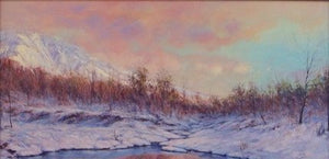 Winter Pond by Travis R. Humphreys - Seaside Art Gallery