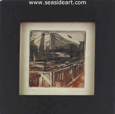 Williamsburg Bridge by Martha Hayden - Seaside Art Gallery