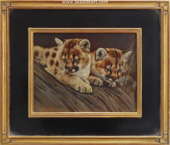 Wonder-Mountain Lion Kittens by Rebecca Latham - Seaside Art Gallery
