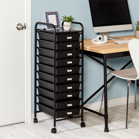 black storage cart