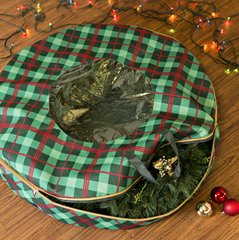 holiday wreath storage bag