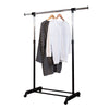 Adjustable Height and Width Rolling Metal Clothes Rack