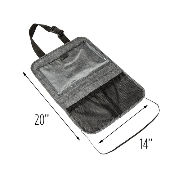 Hanging Back Seat Tablet Holder & Organizer