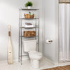4-Tier Over-The-Toilet Shelving Unit, Chrome