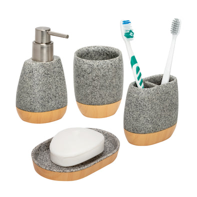 4-Piece Bathroom Accessories Set