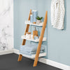 3-Tier Leaning Bathroom Ladder Shelf, White