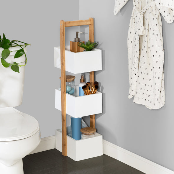 3-Tier Bathroom Storage Caddy, White