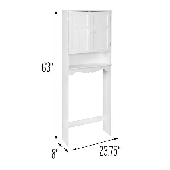 Bathroom Space Saver Cabinet, White