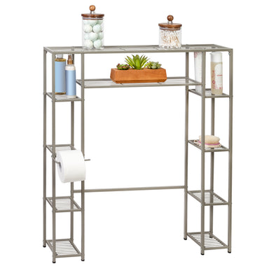 Over-the-Toilet Steel Storage Shelf, 5 Tiers