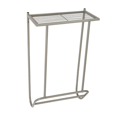 Steel Wall-Mounted Bathroom Towel Holder with Shelf