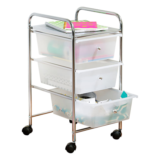 3-Drawer Storage Cart on Wheels - honeycando.com