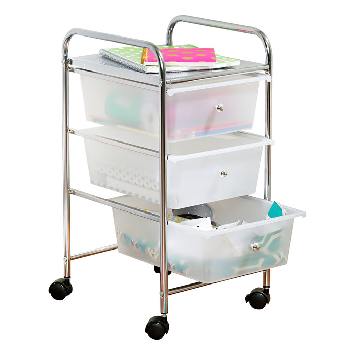 3-drawer-rolling-storage-cart ...  sc 1 st  Honey-Can-Do & 3-Drawer Storage Cart on Wheels
