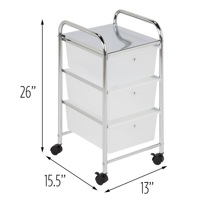 3-Drawer Rolling Storage Cart