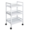 Metal Rolling Cart, White