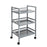 Metal Rolling Cart, Grey