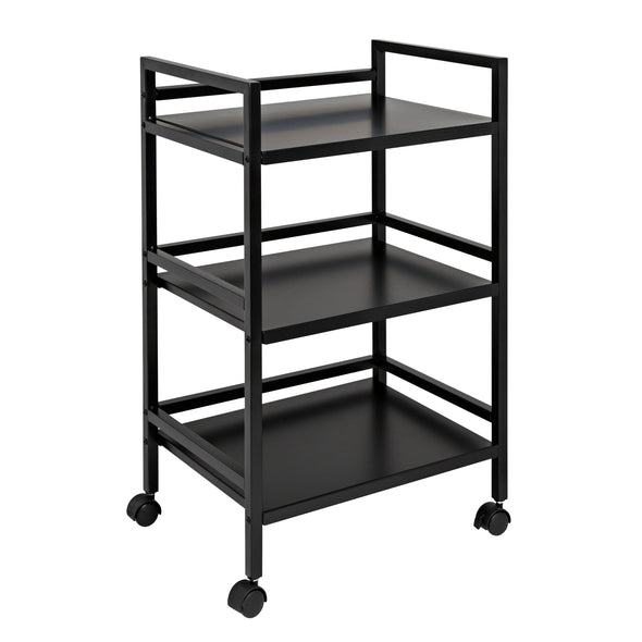 Metal Rolling Cart, Black