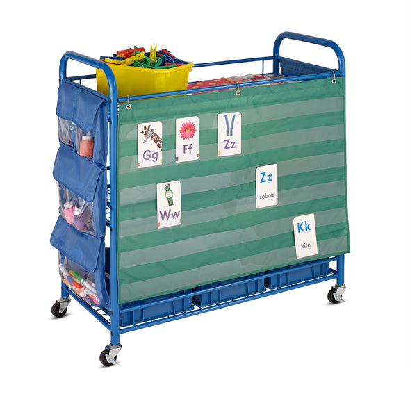 All Purpose Rolling Teacher's Activity Cart, Blue