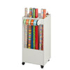 Craft Storage Cart with Fabric Bin, White