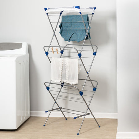 3-Tier Mesh Top Drying Rack