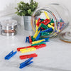 100-Pack Multi-Color Plastic Clothespins
