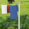 T-Post for 5-Line Outdoor Clothes Drying, White