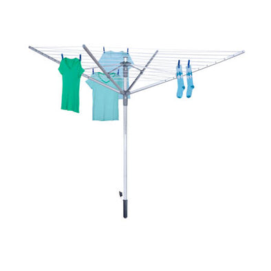 192-foot Outdoor Umbrella Clothes Dryer, Silver - honeycando.com