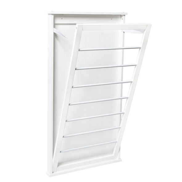 Folding Wall-Mount Drying Rack, White