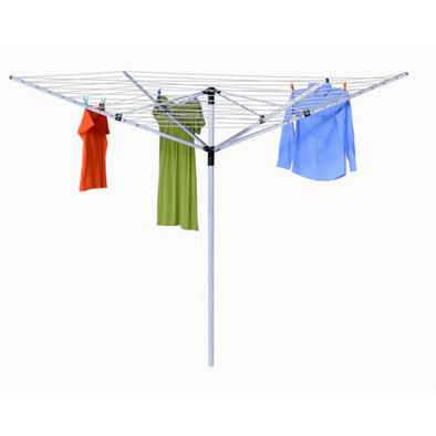 165-foot Outdoor Umbrella Clothes Dryer, Aluminum - honeycando.com