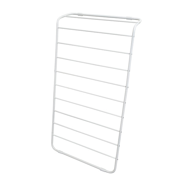 Leaning Clothes Drying Rack, White