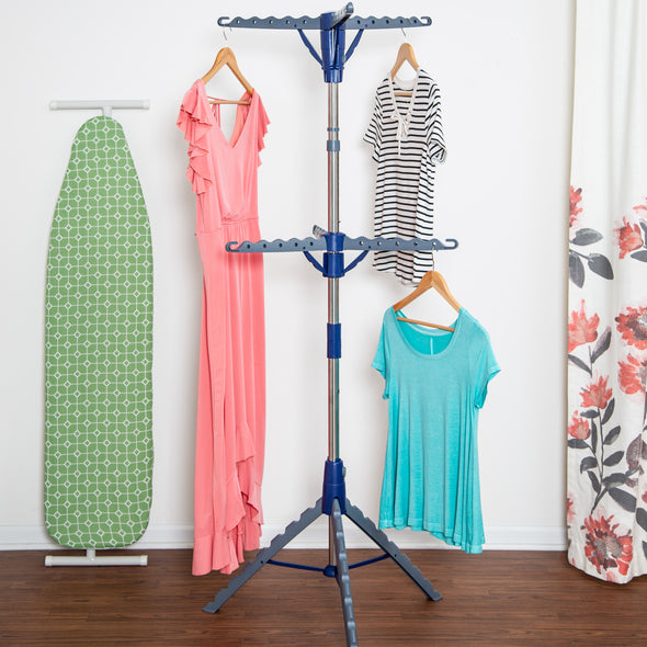 2-Tier Collapsible Tripod Clothes Drying Rack