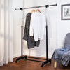 Adjustable Garment Rack with Expandable Bar, Black/Chrome