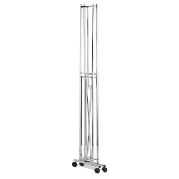 Collapsible Rolling Garment Rack, Chrome