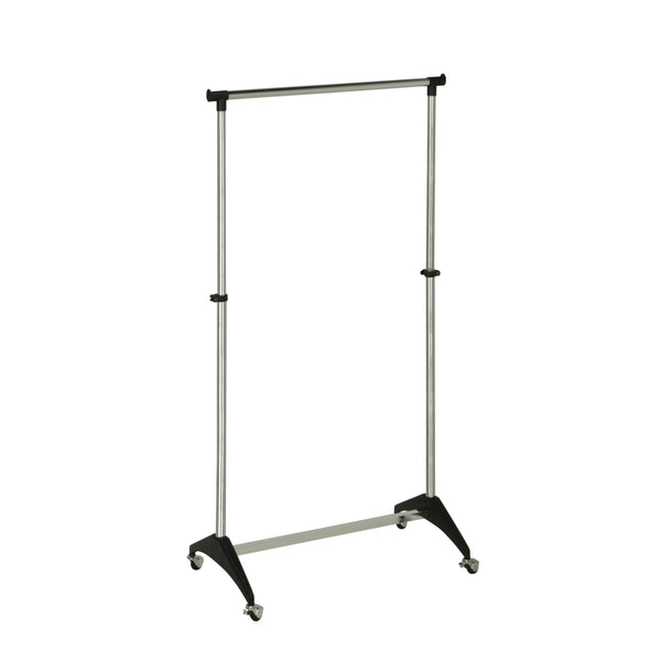 Adjustable Rolling Gar Rack, Chrome